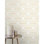 2834-42344 Advantage Metallic Adaline Off-white Geometric by Advantage Wallpaper2