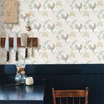 Hank Multicolor Rooster by Chesapeake Wallpaper