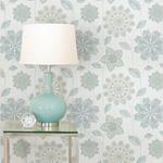 NU1697 Gypsy Floral Blue/Green Flowers Peel and Stick Wallpaper2