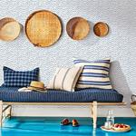 Sand Drips Blue Painted Dots by Chesapeake Wallpaper