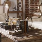 19596 Lounging Reader Bookends S/2 by Uttermost-4