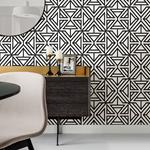 2902-25553 Theory Helios Black Geometric by A-Street Prints Wallpaper2