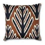 """So7723204 Jokhang Tiger Velvet 18"""" Pillow Brown and Black By Schumacher Furniture and Accessories 2"""