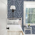 3118-12703 Birch and Sparrow Kiwassa Antler Damask by Chesapeake Wallpaper2