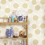 2764-24302 Blithe Gold Floral Mistral by A-Street Prints2