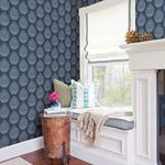 3118-25092 Birch and Sparrow Totem Pinecone by Chesapeake Wallpaper2