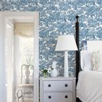 Spinney Blue Toile by Chesapeake Wallpaper