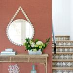 2969-25872 Pacifica Jocelyn Red Faux Fabric Redby A-Street Prints Wallpaper2