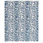 80672 Quincy Embroidery On Linen Navy By Schumacher Fabric 2