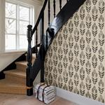 Garland Black Block Tulip by Chesapeake Wallpaper