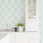 2809-87704 Geo Dauphin Light Blue Lattice by Advantage Wallpaper2