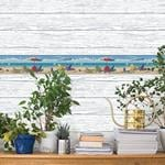 Rehoboth Light Blue Distressed Wood by Chesapeake Wallpaper