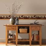 3118-35711B Birch and Sparrow, Silhouettes Fores-2