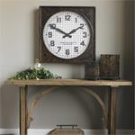06083 Warehouse Clock w/ Grill by Uttermost-4