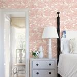 Spinney Rose Toile by Chesapeake Wallpaper