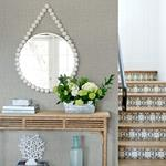2969-26057 Pacifica Jocelyn Grey Faux Fabric Greyby A-Street Prints Wallpaper2