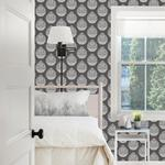 3118-25093 Birch and Sparrow Totem Pinecone by Chesapeake Wallpaper2