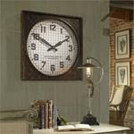 06083 Warehouse Clock w/ Grill by Uttermost-2