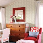 Dolly Beige Floral by Chesapeake Wallpaper