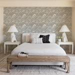 2969-87353 Pacifica CABARITA Grey Art Deco Leaves Greyby A-Street Prints Wallpaper2