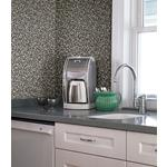 2774-899603 Stones and Woods Aleutian Black Pebbles by Advantage Wallpaper2