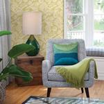 2969-87529 Pacifica Alma Yellow Tropical Floral Yellowby A-Street Prints Wallpaper2