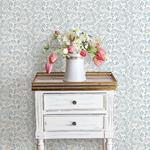 Sycamore Blue Paisley Floral by Chesapeake Wallpaper