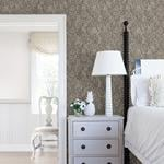 Patsy Charcoal Floral by Chesapeake Wallpaper
