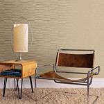 Luminescence Gold Abstract Stripe by Brewster Wallpaper