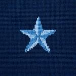 So7742111 Star Epingle Pillow Blue By Schumacher Furniture and Accessories 2