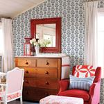Dolly Navy Floral by Chesapeake Wallpaper