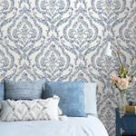 NUS3547 Blue Guildford Flowers Peel and Stick Wallpaper2