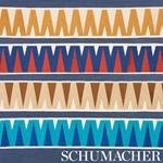 76063 Prado Tape Blue and Red by Schumacher Fabric4
