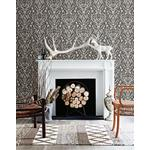 3118-12704 Birch and Sparrow Kiwassa Antler Damask by Chesapeake Wallpaper2