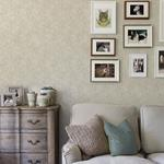 Patsy Grey Floral by Chesapeake Wallpaper