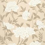 5004383 | Whitney Floral, Taupe - Schumacher Wallpaper