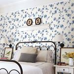 Cyrus Blue Festive Floral by Chesapeake Wallpaper