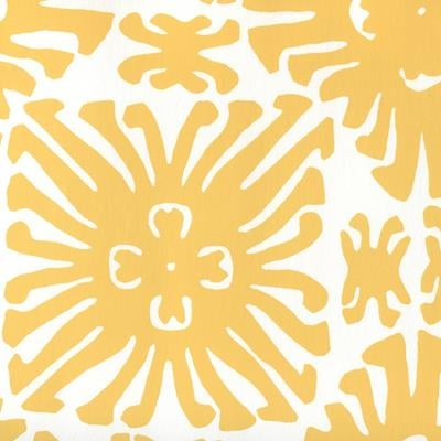 2475WP-03 Sigourney Small Scale, Yellow on White by Quadrille Wallpaper