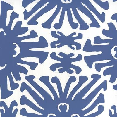 2475WP-08 Sigourney Small Scale, New Navy on White by Quadrille Wallpaper