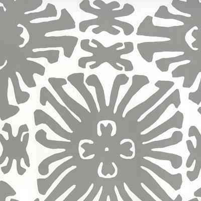 2475WP-06 Sigourney Small Scale, Gray on White by Quadrille Wallpaper
