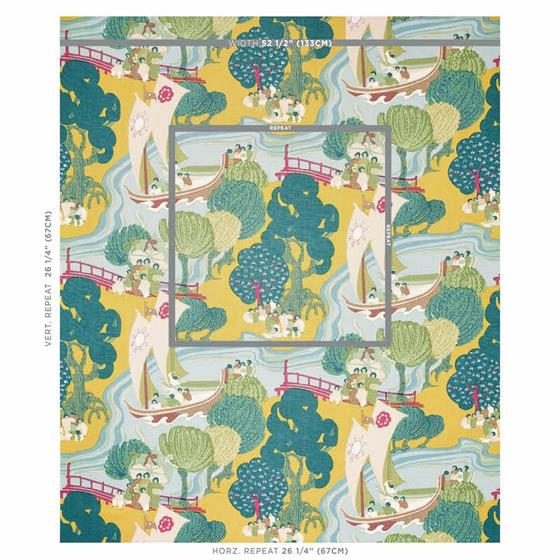 173066 Pearl River Yellow By Schumacher Fabric 2