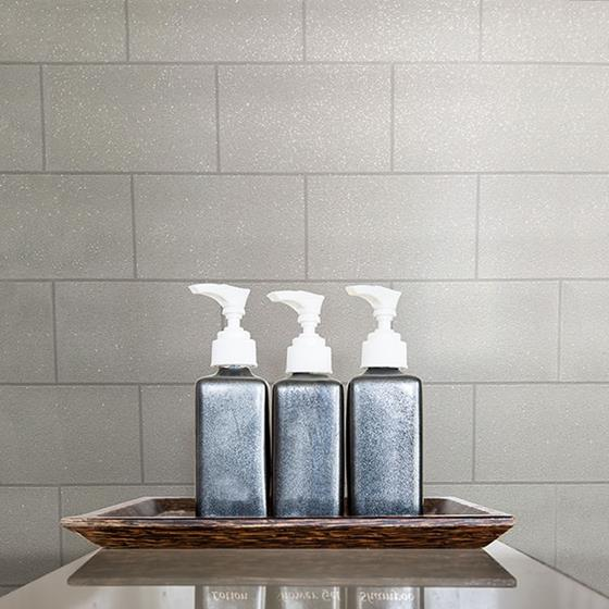 2836-M1054 Shades of Grey Angelo Ivory Subway Tile by Advantage Wallpaper2