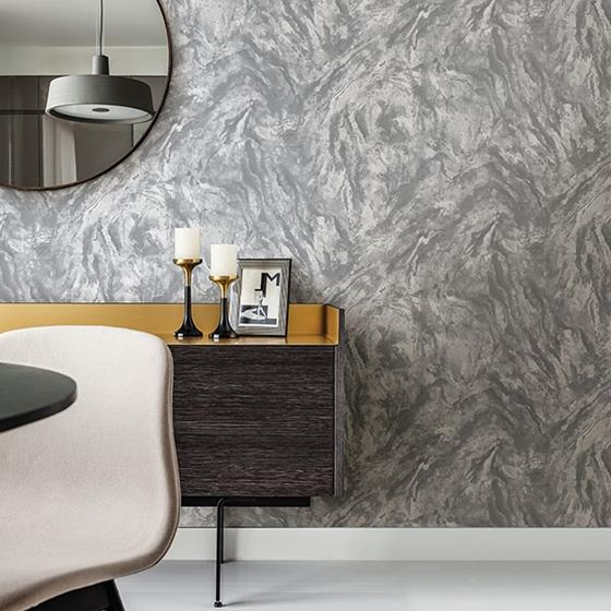 Titania Pewter Marble Texture by Brewster Wallpaper