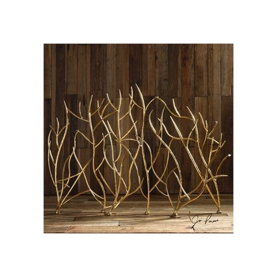 18796 Gold Branches Decorative Fireplace by Utte-2