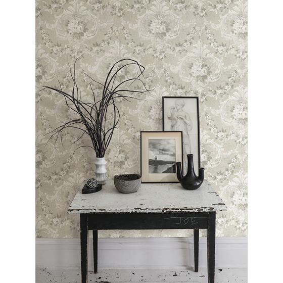 AST4065 Zio and Sons This Old Hudson Timeless Grey Rose Damask by A-Street Prints Wallpaper2