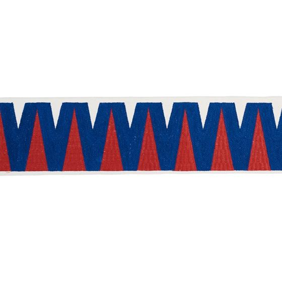 76063 Prado Tape Blue and Red by Schumacher Fabric2