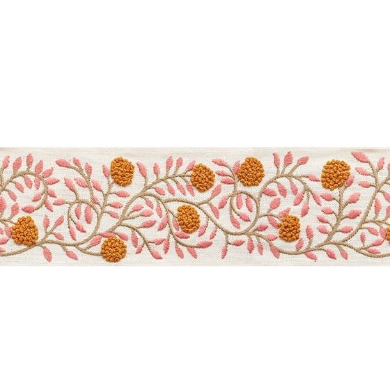 76291 Ashoka Tape Orange and Pink by Schumacher Fabric2