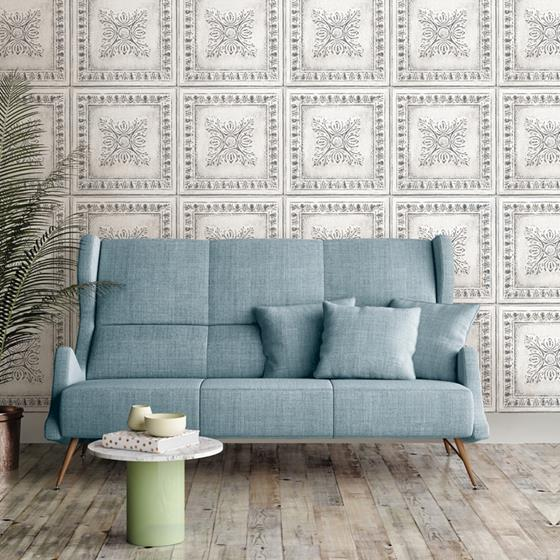 NU2495 Reclaimed Tin Graphics Peel and Stick Wallpaper2