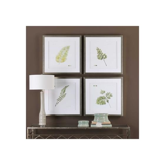33666 Watercolor Leaf Study S/4 by Uttermost-2