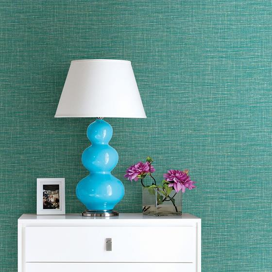2969-24118 Pacifica Exhale Turquoise Woven Texture Turquoiseby A-Street Prints Wallpaper2